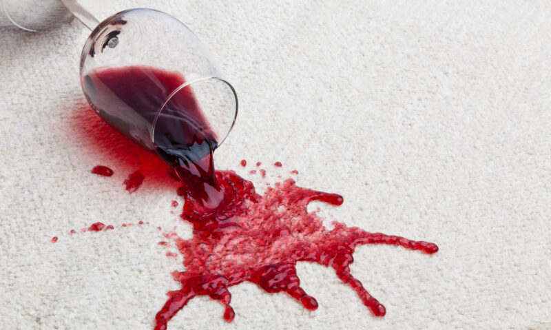 Prevent spills from Staining Carpet